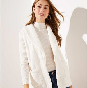 Fuzzy White Fleece Loft Vest **So Soft**